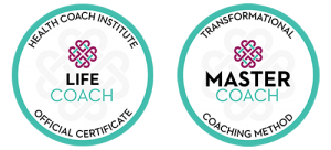 Master Life Coach Certification Badges for Sarah Vie